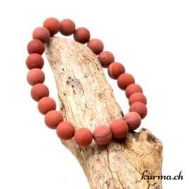Bracelet Jaspe rouge mat 8mm