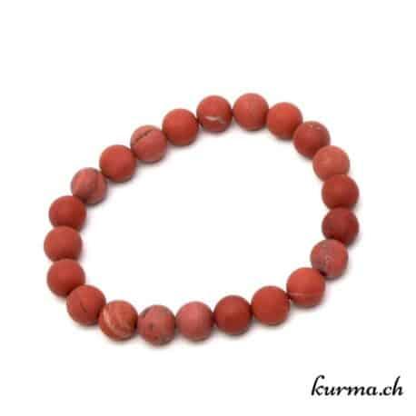 bracelet en jaspe rouge matte 8mm
