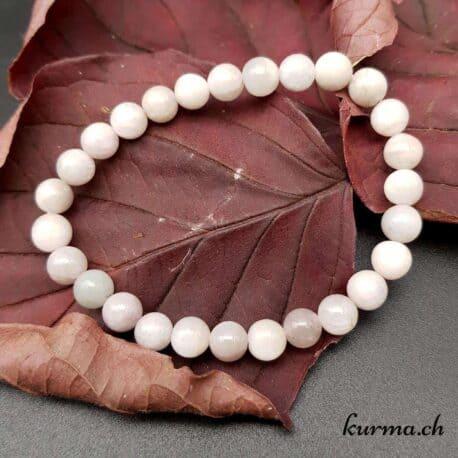 bracelet en perles de kunzite bijou femme homme cadeau présent magasin pierres zen méditation