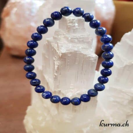 Bracelet Lapis-lazuli 6mm