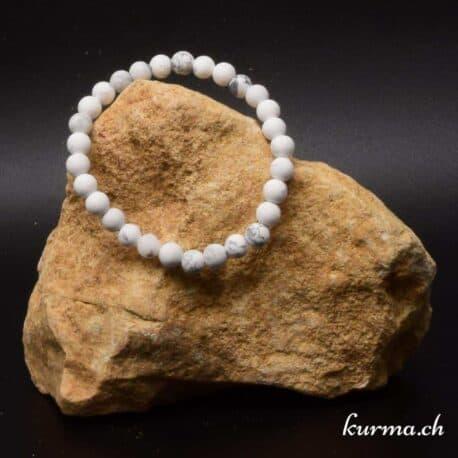 perles howlite en bracelet