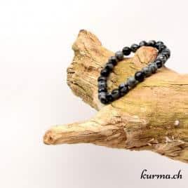 bracelet en obsidienne 6mm