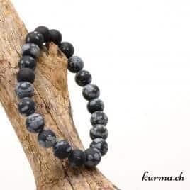bracelet pour le chakra racine en obsidienne