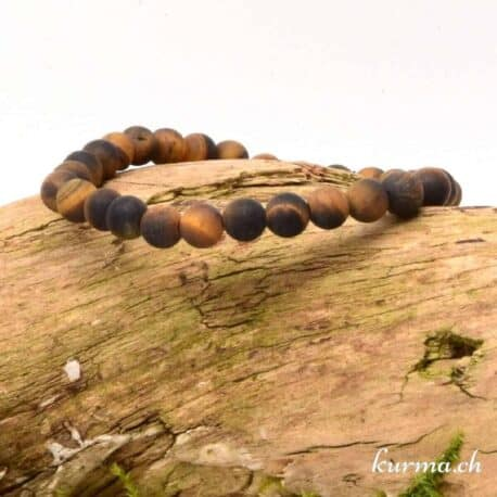bracelet en oeil de tigre matte 6mm