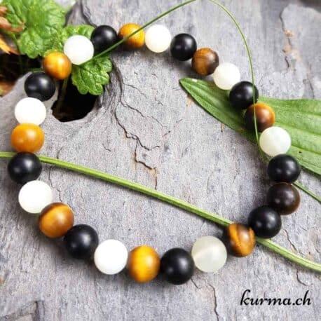 onyx oeil de tigre perles bracelet