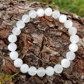 bracelet pierre de lune blanche