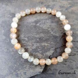 perles de lune en bracelet mixte