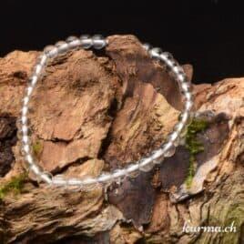 Bracelet Cristal de roche naturel 4mm