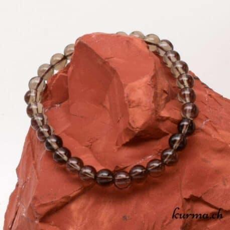 bracelet en quartz fumé 6mm
