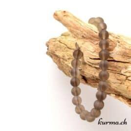 bracelet en quartz fumé matte