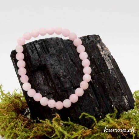 Bracelet Quartz rose mat 6mm
