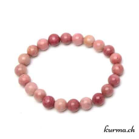 bracelet en pierre d'énergie de rhodonite