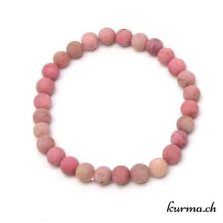 bracelet en pierre énergétique en rhodonite