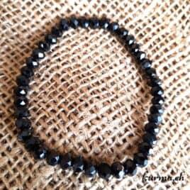 bracelet spinelle noire femme