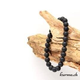 Bracelet Tourmaline noire mate 8mm
