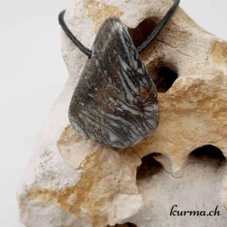 Pyrite-plume pendentif