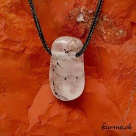 Quartz-Tourmaline pierre percée