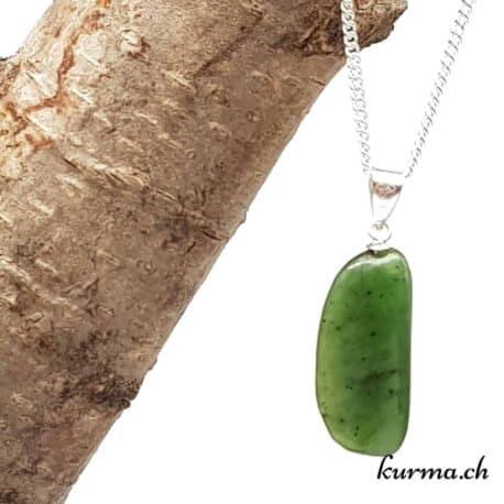 Jade néphrite collier en argent
