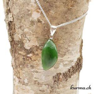 Jade néphrite pendentif en argent