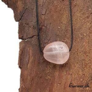 quartz rose collier