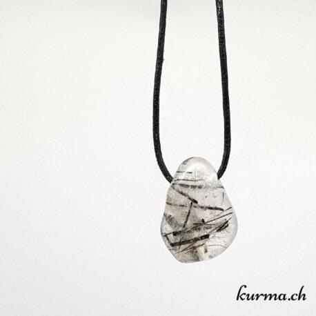 quartz tourmaline pendentif