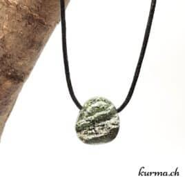 Serpentine oeil d'argent pendentif