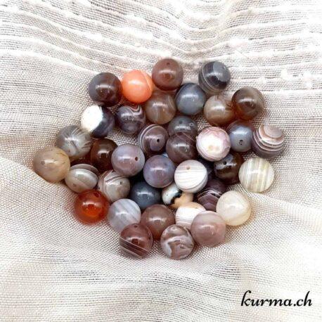 Perles agate du botswana 10mm