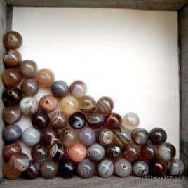 Perles Agate du Botswana 8mm
