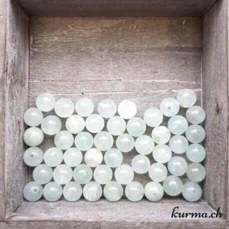 Perles Aigue-marine 8mm