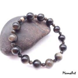 Bracelet en Obsidienne dorée – Br26