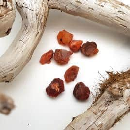 Cornaline – Pierre brute de poche – 2.5 à 3cm – N°5418.1
