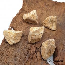 Jaspe paysage – Pierre brute de poche – 3.5 à 4cm – N°7451