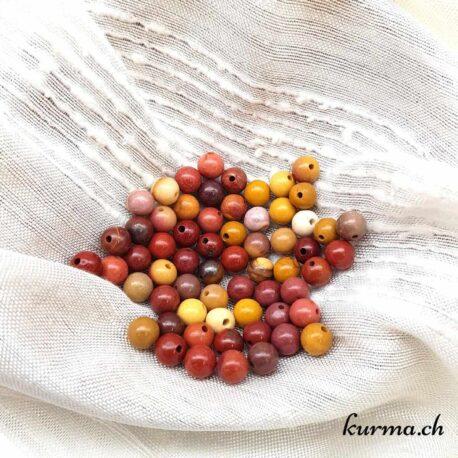 Perles en Mookaïte 6mm