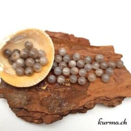 Perles pierre de lune grise