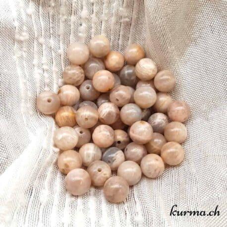 Perles pierre de lune marron 8mm