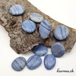 galet en quartz bleu