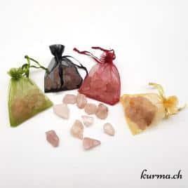 Quartz rose brute – Pochette de 40gr  – N°5288.3