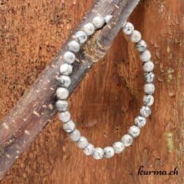 Bracelet Agate Crazy Lace grise facettes 6mm