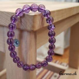 Bracelet Améthyste – 8-9mm – N°9046