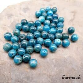 Perles en Apatite bleue naturelle