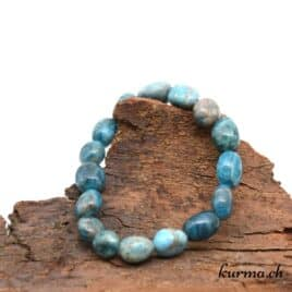 Bracelet apatite bleue nuggets 9-11mm