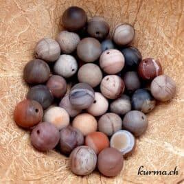 Bois pétrifié mat – Perles 10-10.5mm – N°9191