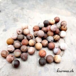 Bois pétrifié mat – Perles 8-8.5mm – N°9190