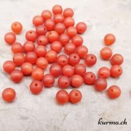 Agate Cornaline mate – Perles 4-4.5mm – N°9202