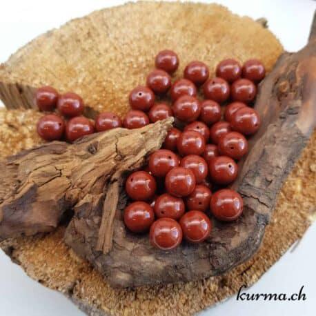 Perles en Jaspe rouge 10mm