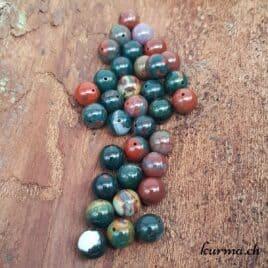 Jaspe sanguin ou Héliotrope – Perles 10mm – N°9217