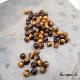 Oeil de tigre – Perles 6-7mm – N°9182