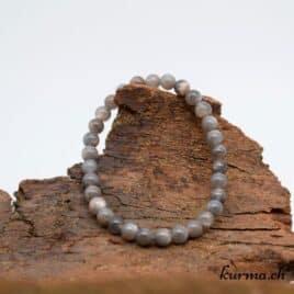 Bracelet pierre de lune grise 7mm