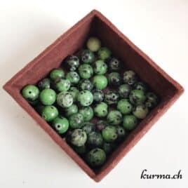 Rubis Zoïzite – Perles 8-8.5mm – N°9227