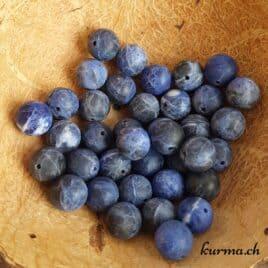 Sodalite Mate – Perles 10.5mm – N°6019
